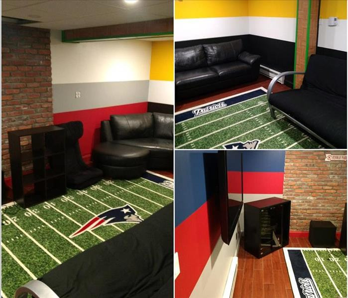 A Kingston Home's Game Room- Before and After After