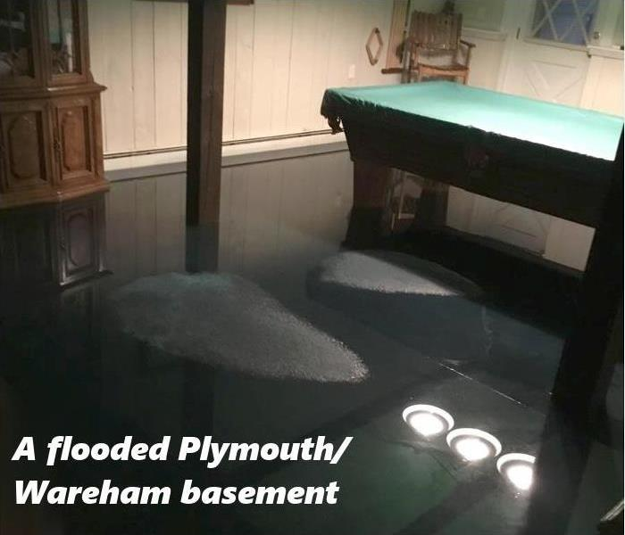 Water Damage Plymouth/Wareham Residents: We Specialize in Flooded Basement Cleanup and Restoration!